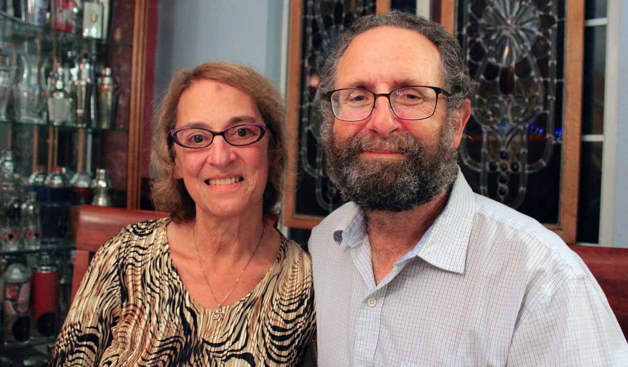 Tirtza and Barry Pearl at their home in San Francisco in November. (Gabriel Greschler)