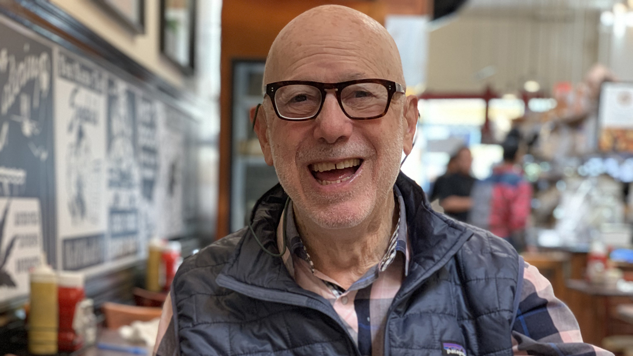 Philanthropist Al Baum at Miller's Deli in San Francisco (Rajat Dutta)