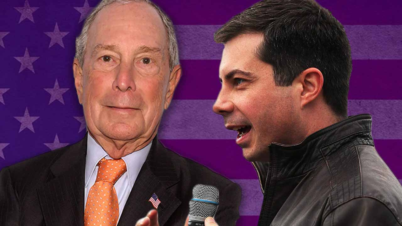 Michael Bloomberg and Pete Buttigieg (Getty Images/JTA Montage)