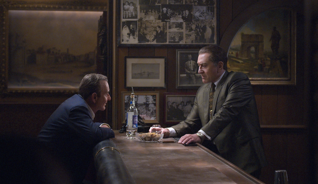 """Joe Pesci (left) and Robert De Niro star in Martin Scorsese's """"The Irishman."""" (Netflix)"""