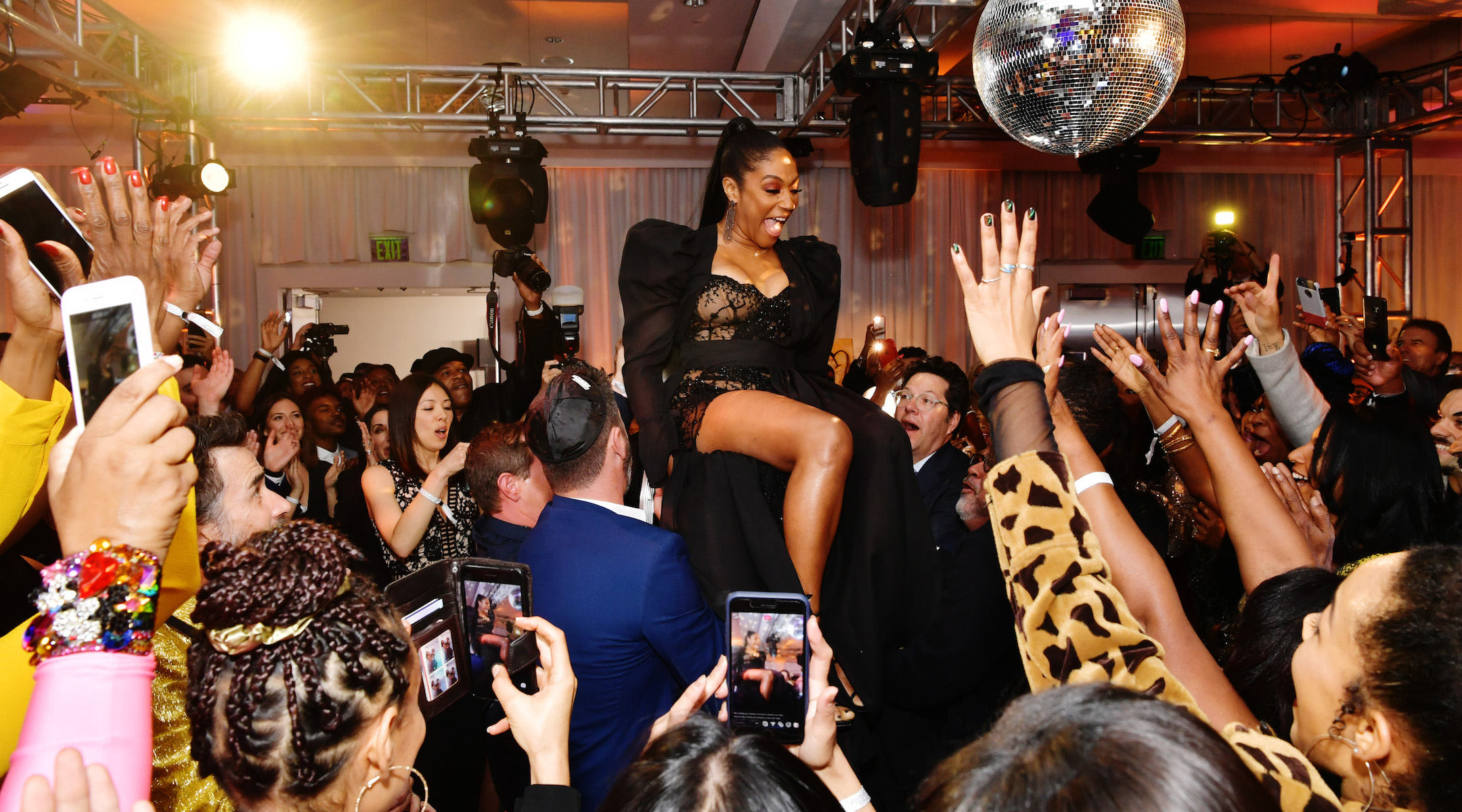 """Tiffany Haddish performs in her Netflix stand-up special """"Black Mitzvah."""" (Photo/Netflix)"""
