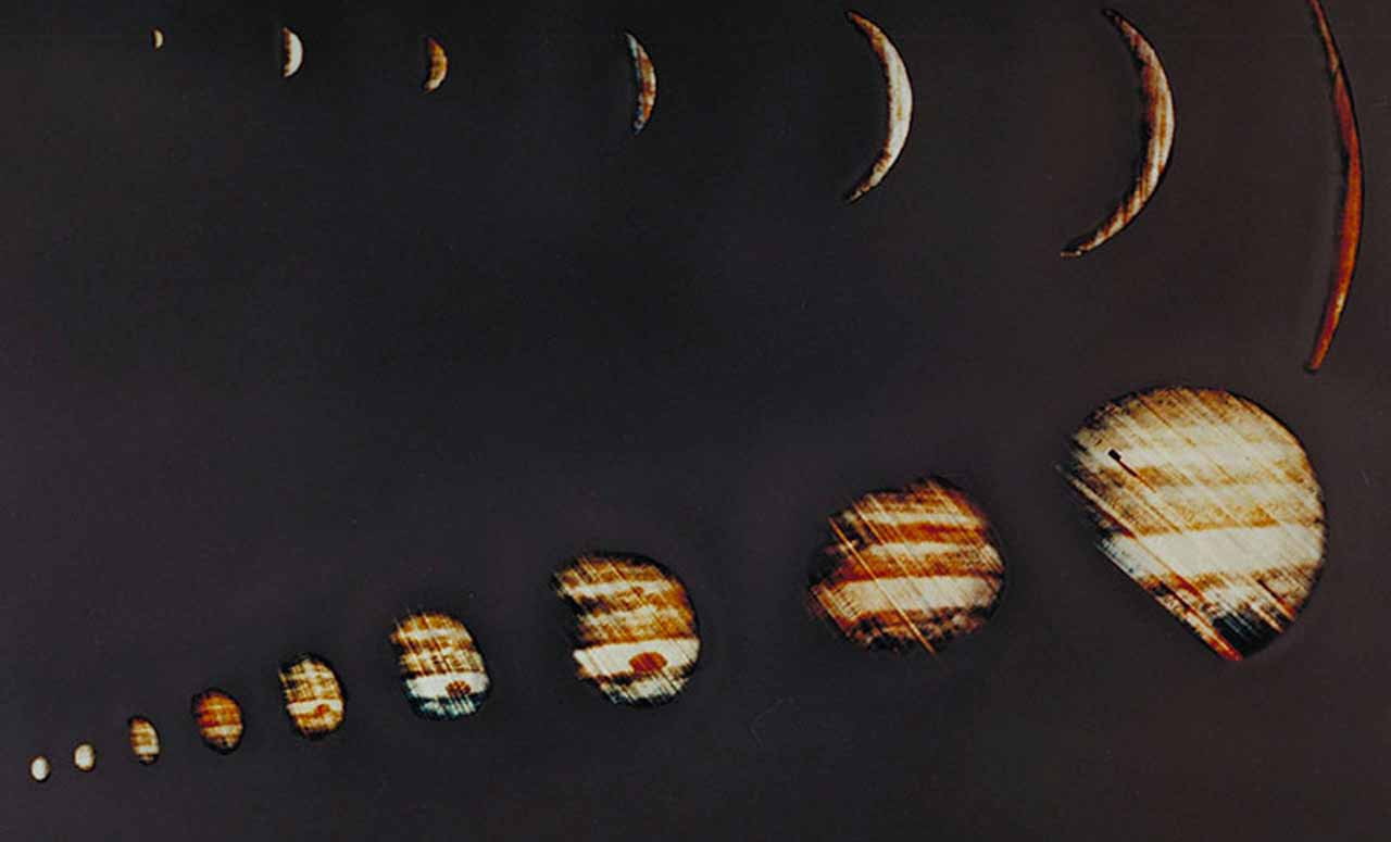 Big Jupiter energy this month! On Dec. 4, 1973, NASA's Pioneer 10 spacecraft sent back these images of Jupiter. (NASA)
