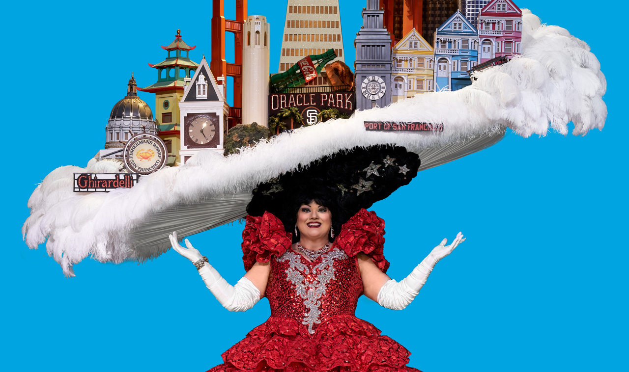 The final iconic San Francisco Skyline Hat in Beach Blanket Babylon, the world's longest running musical revue, which comes to an end this year after 45 years. (Rick Markovich)