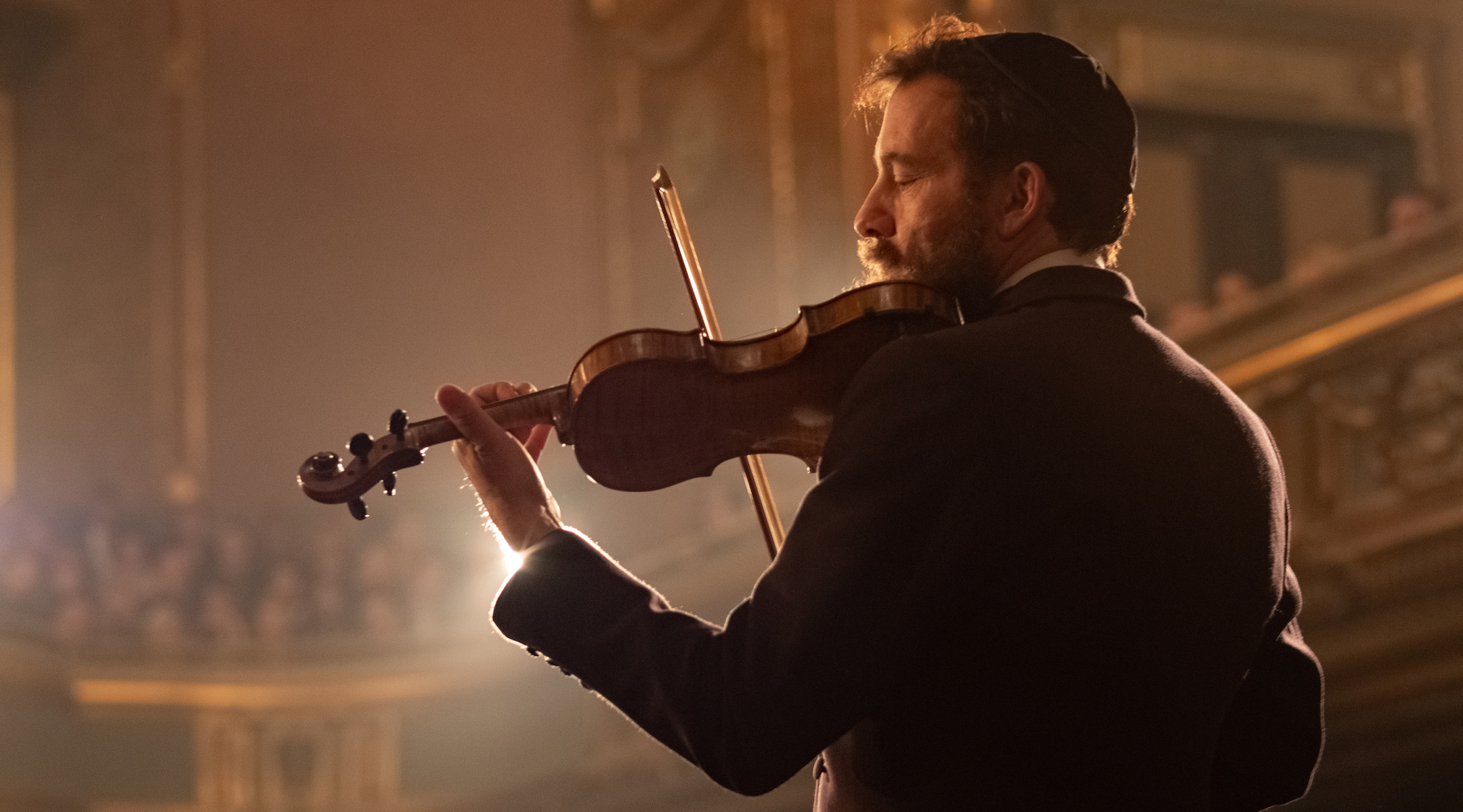 """Clive Owen plays Dovidl as an adult in """"Song of Names."""" (JTA/Sabrina Lantos/Sony Picture Classics)"""