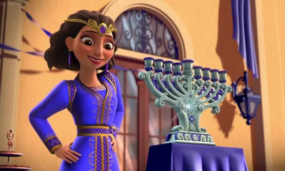 "Rebekah, princess of the Sephardic kingdom of Galonia, on a very special Hanukkah episode of ""Elena of Avalor."""