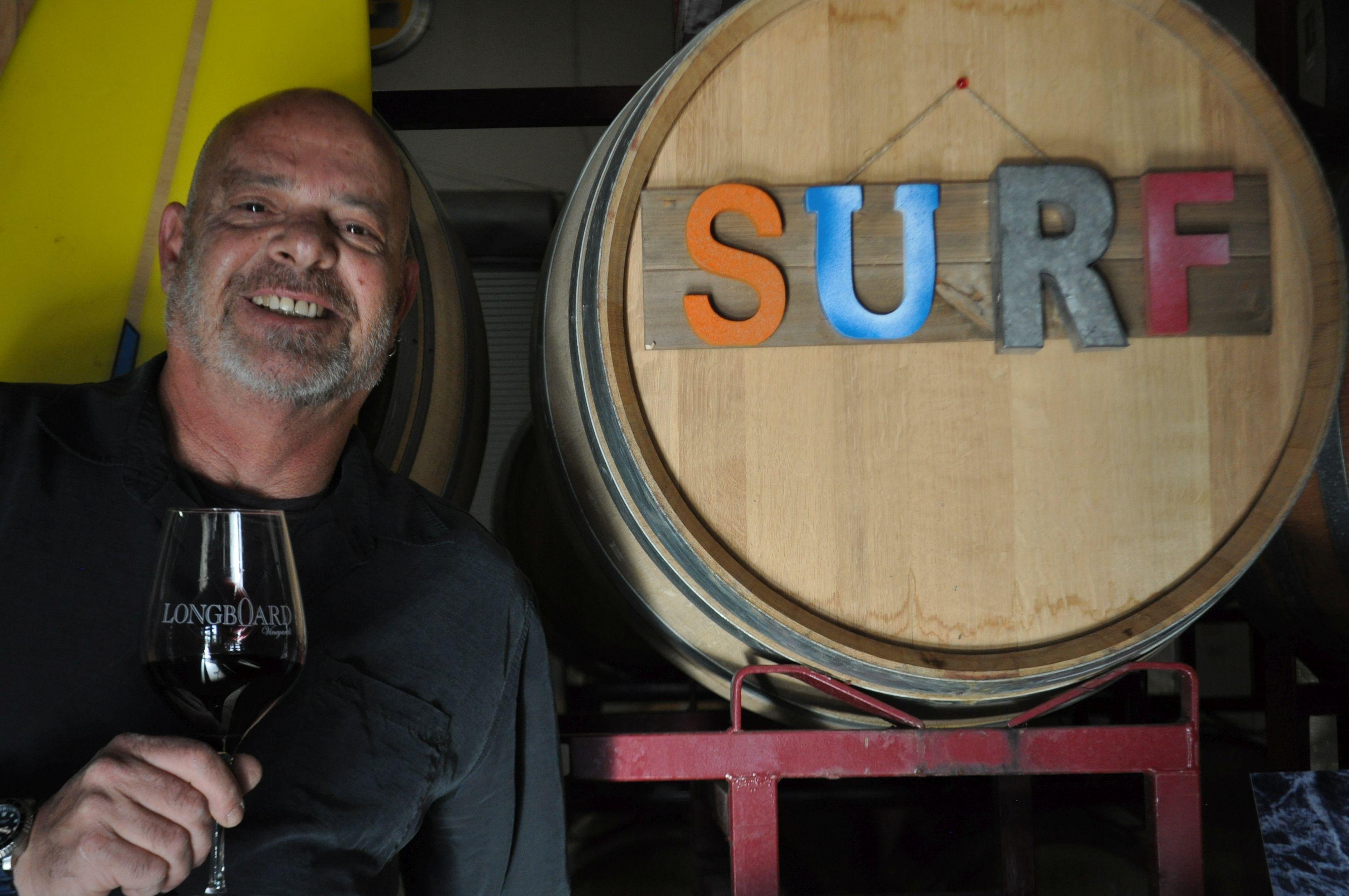 Oded Shakked at his Sonoma winery, Longboard Vineyards. (Courtesy Oded Shakked)