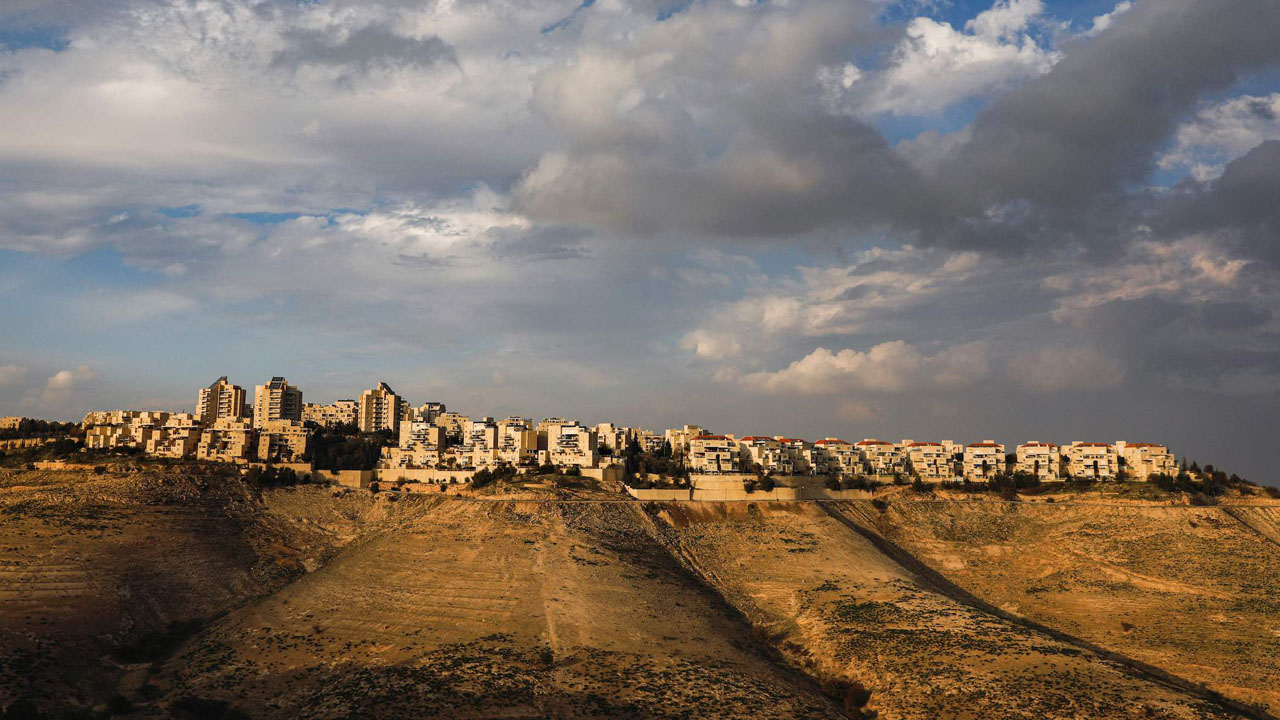 A view of the Maale Adumim settlement in the West Bank. (JTA/Menahem Kahana/AFP via Getty Images)