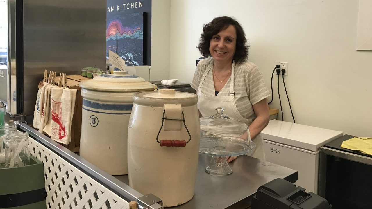 Liz Ashby of Paulie's Pickling in 2017. (Alix Wall)