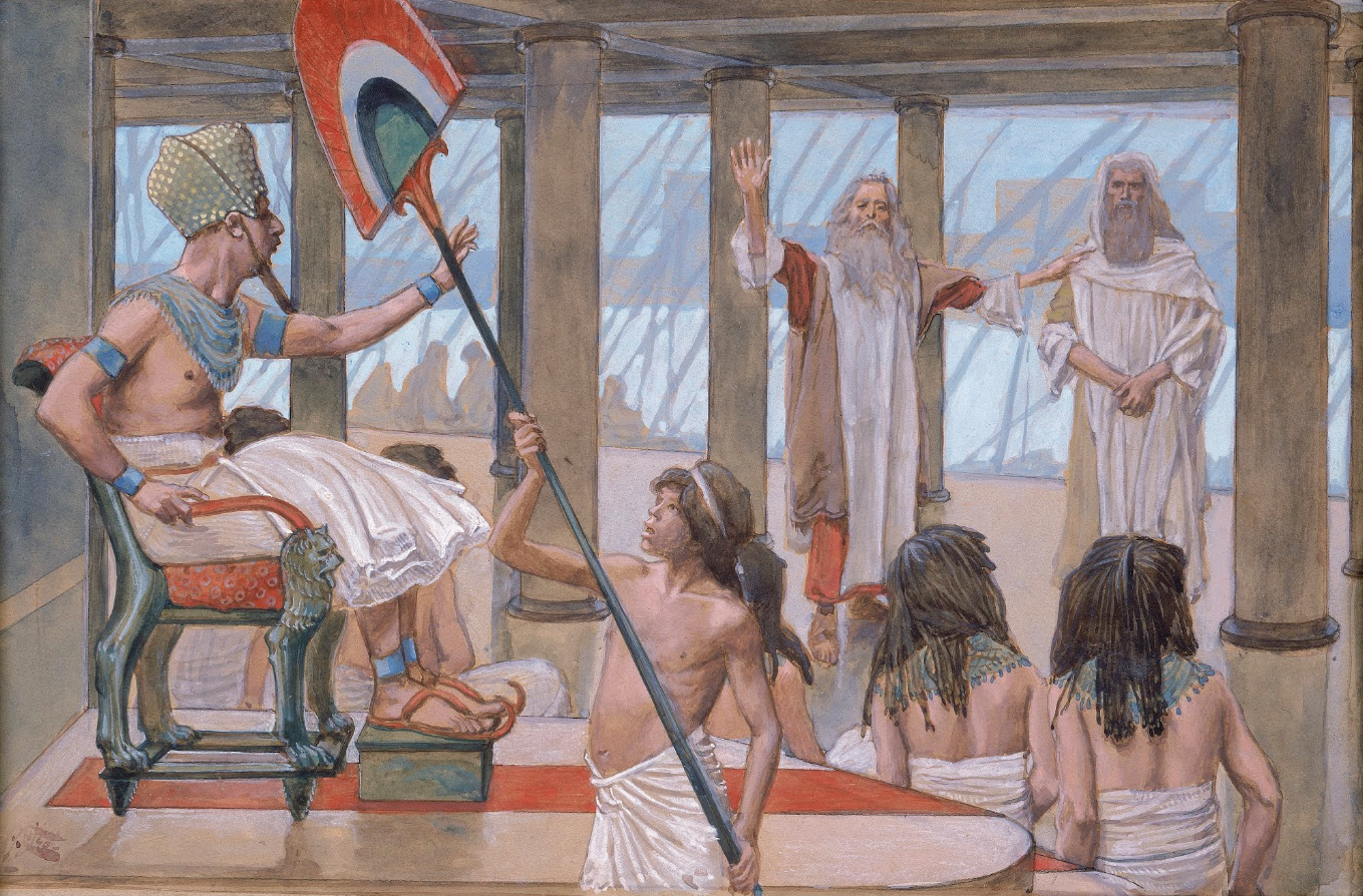 """""""Moses Speaks to Pharaoh"""" by James Tissot, ca. 1900"""