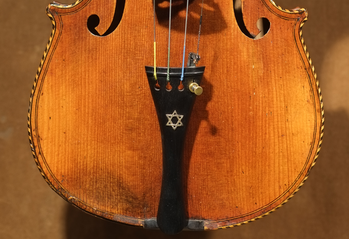 One of the refurbished Holocaust violins that has come to the Bay Area as part of the Violins of Hope event series. (Weinstein Collection)