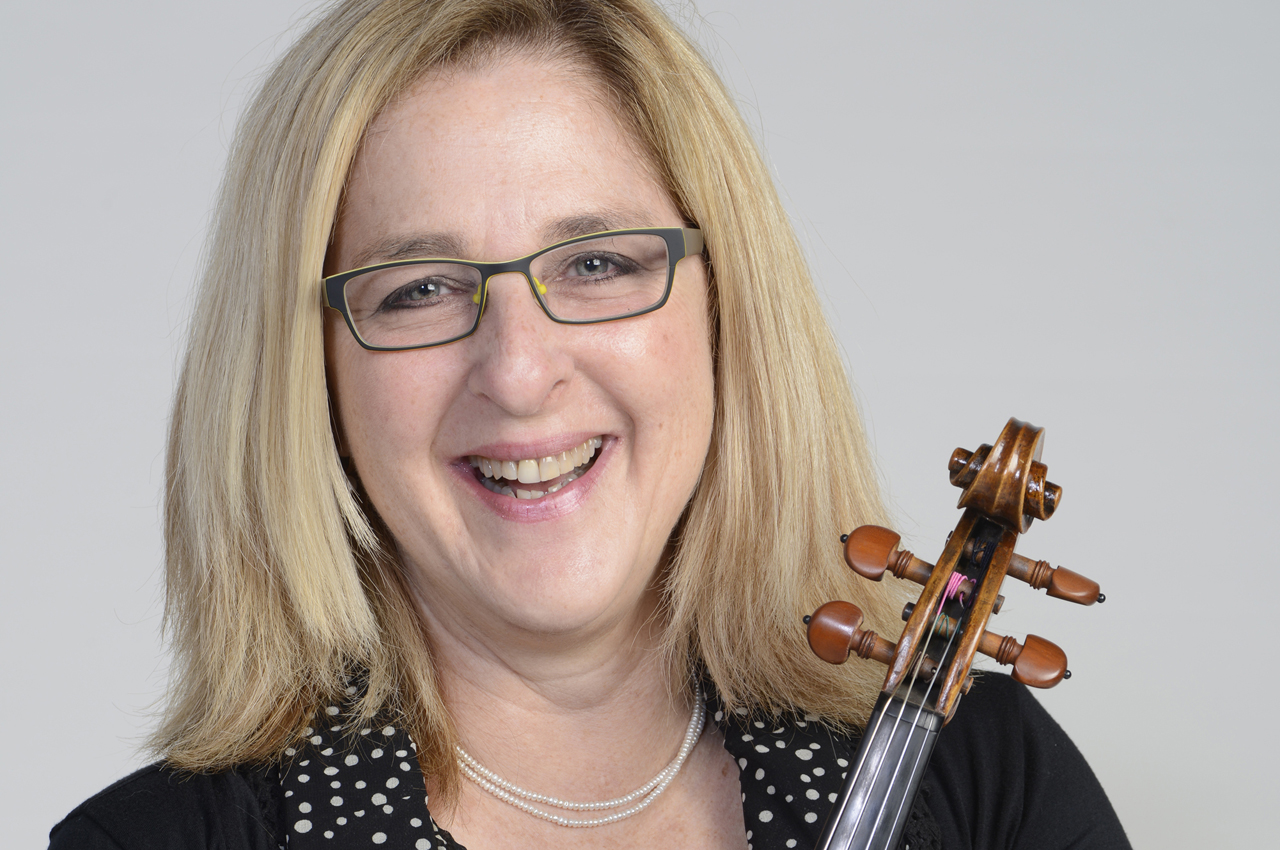 Violinist Cookie Segelstein of the klezmer band Veretski Pass will play several of the Holocaust violins that have come to the Bay Area for the Violins of Hope series.
