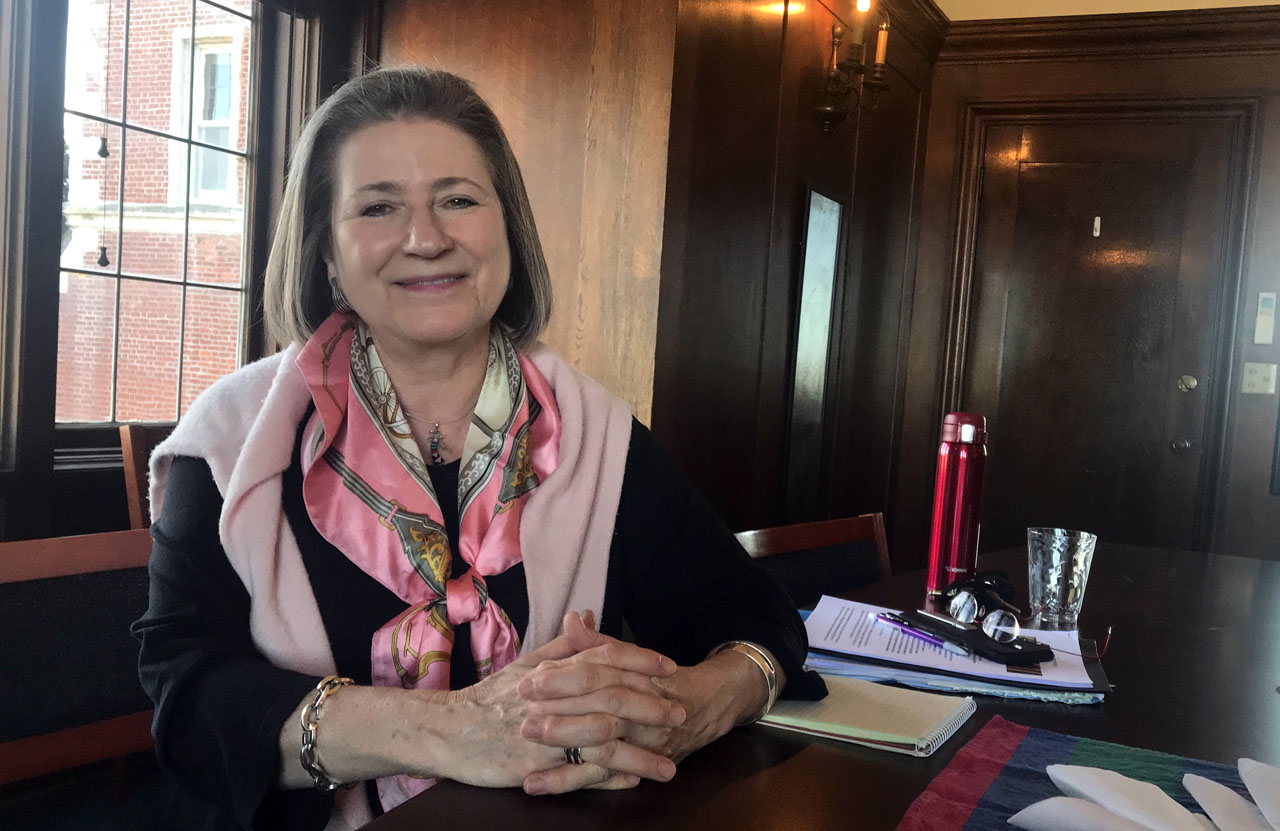 Patricia Kristof Moy at Kohl Mansion in Burlingame. (Laura Paull)