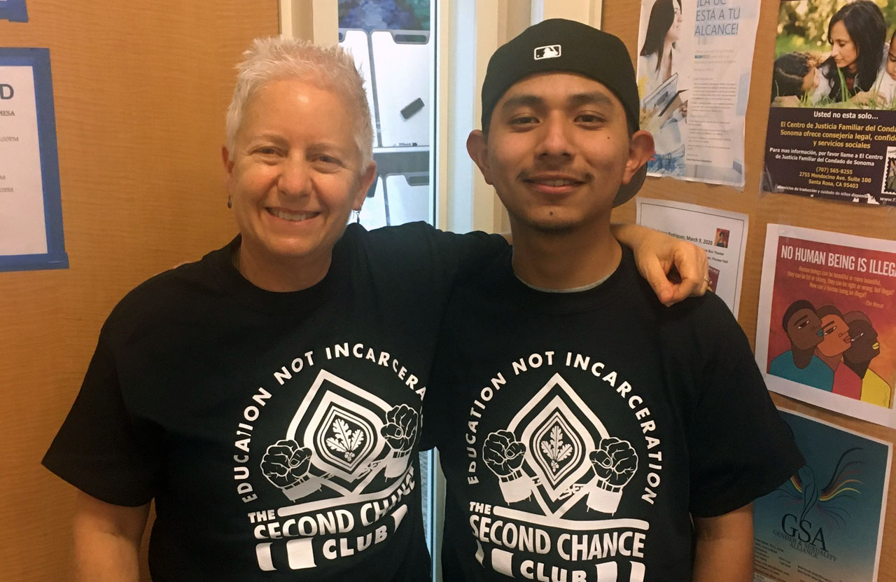 Santa Rosa Junior College counselor Rhonda Findling with Apolinar Vega, a formerly incarcerated student Findling has helped through the Second Chance program. (Courtesy Second Chance)