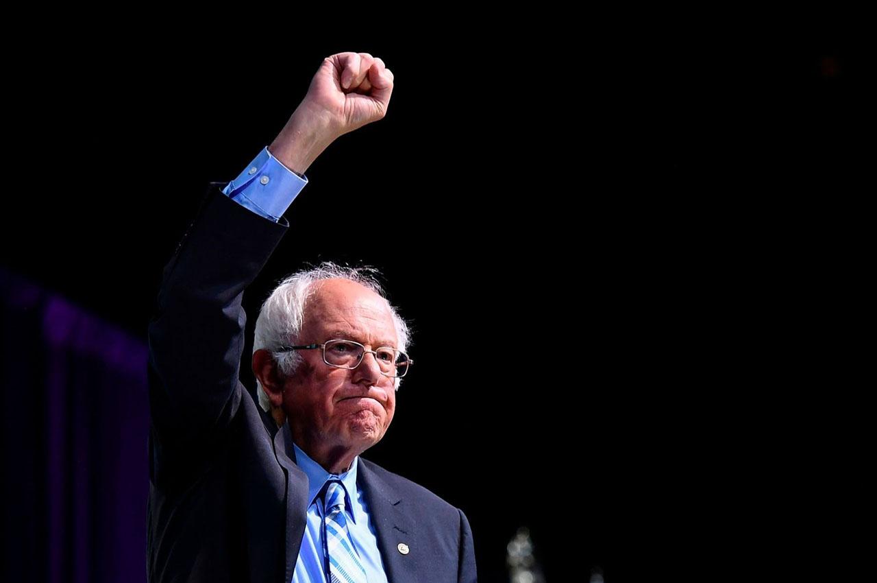 Bernie Sanders at the 2019 J Street conference in Washington, D.C., Oct. 28, 2019. (JTA/Mandel Ngan/AFP via Getty Images)