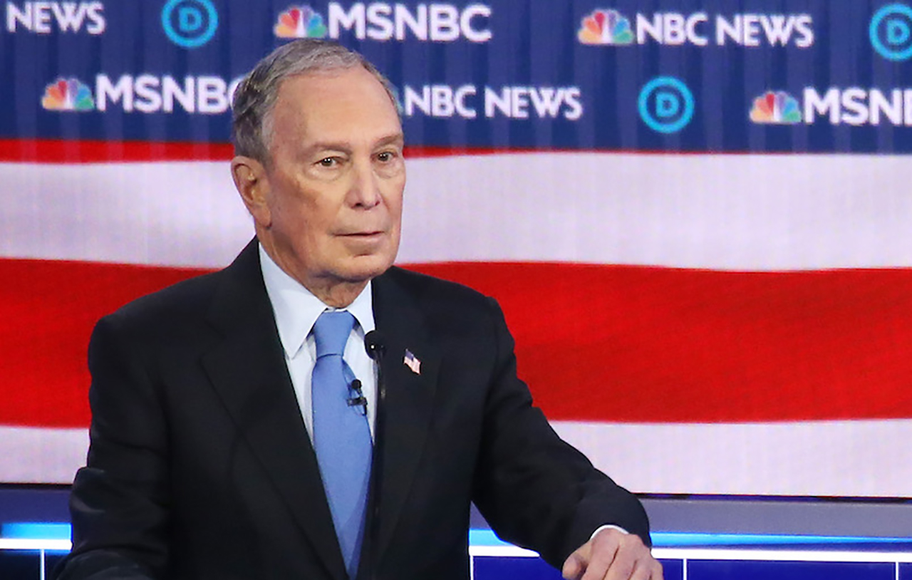 Mike Bloomberg was under attack from the other Democratic presidential candidates at the debate in Las Vegas, Feb. 19, 2020 in Las Vegas, Nevada. (JTA/Mario Tama/Getty Images)