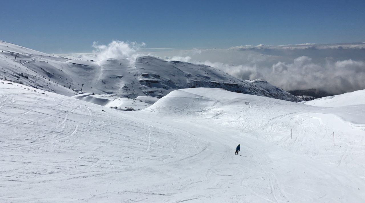 The top of the Hermon ski area offers expansive views of the valley below. (JTA/Uriel Heilman)