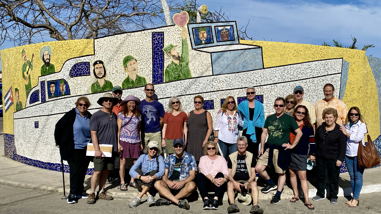A group from the Osher Marin JCC visiting Cuba, Jan. 2020. (Fred Greene)