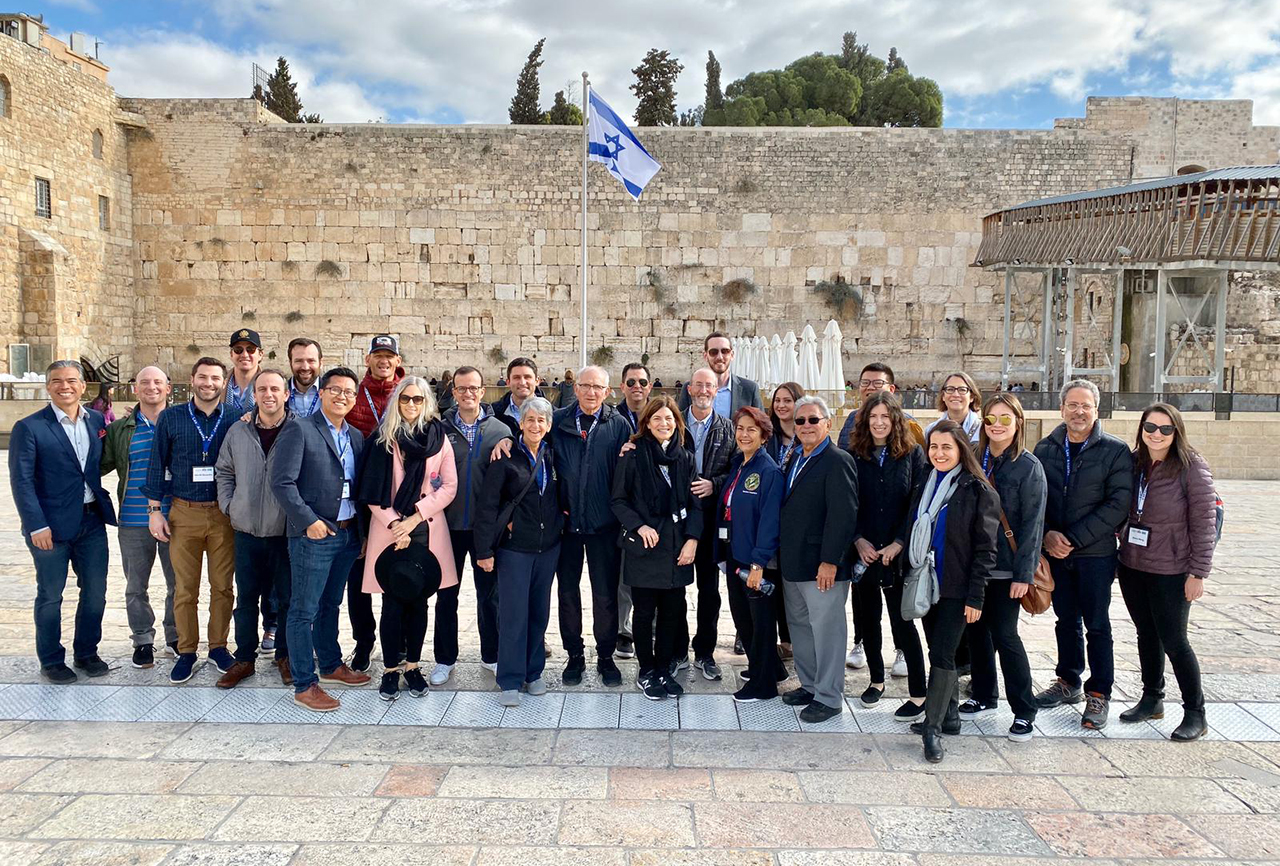 State lawmakers visit the Western Wall in Jerusalem on a trip to Israel organized by the California Legislative Jewish Caucus, Dec. 3, 2019. (Courtesy California Legislative Jewish Caucus)