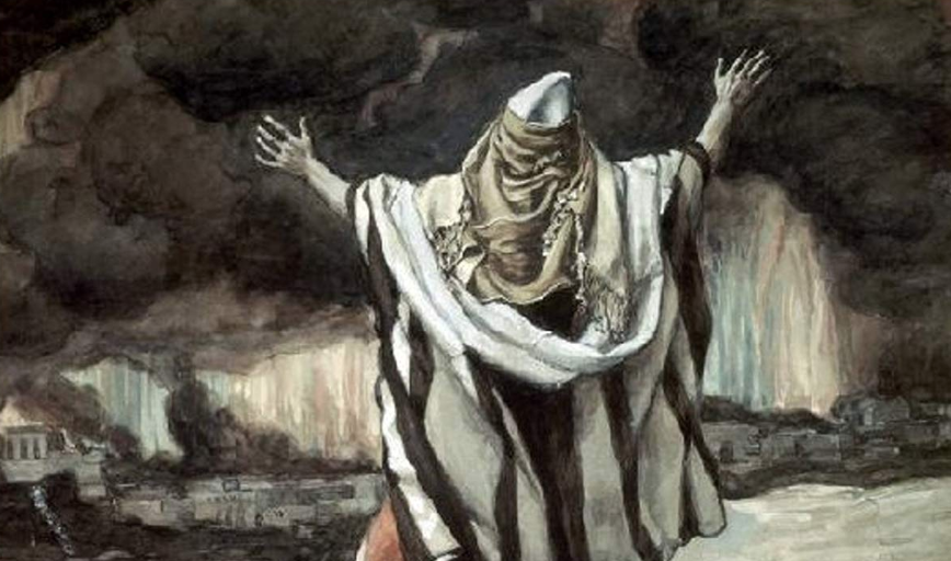 "From ""Abraham Sees Sodom in Flames"" by James Tissot, ca. 1900"