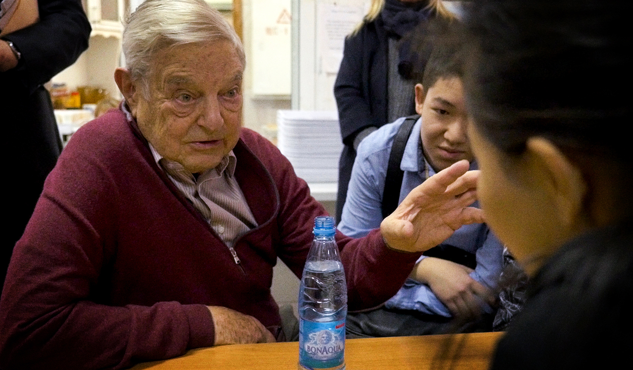 "George Soros in the documentary ""Soros."" (Photo/Courtesy Jewish Film Institute)"