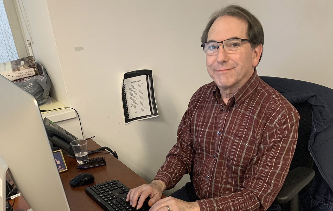 Dan Pine, our beloved news editor, has retired. (Sue Barnett)
