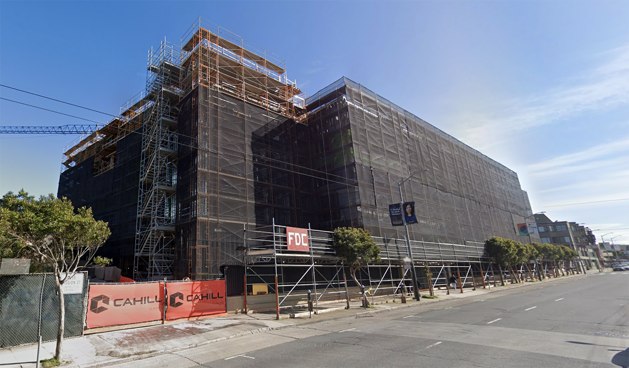 A new wing under construction at the San Francisco Campus for Jewish Living. (Screenshot/Google Maps)
