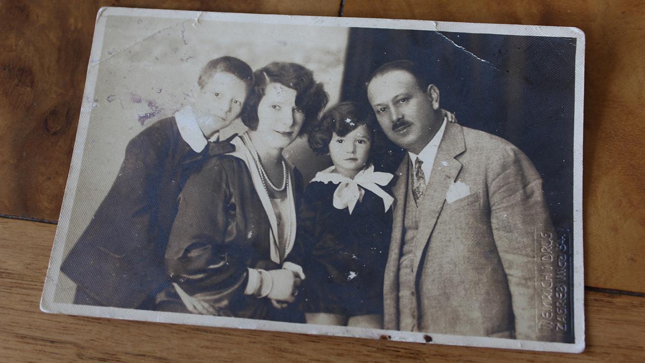 (From left) Fredi, Frida, Zdenka and Filip Levy. (Courtesy Zdenka Ruchwarger Levy)