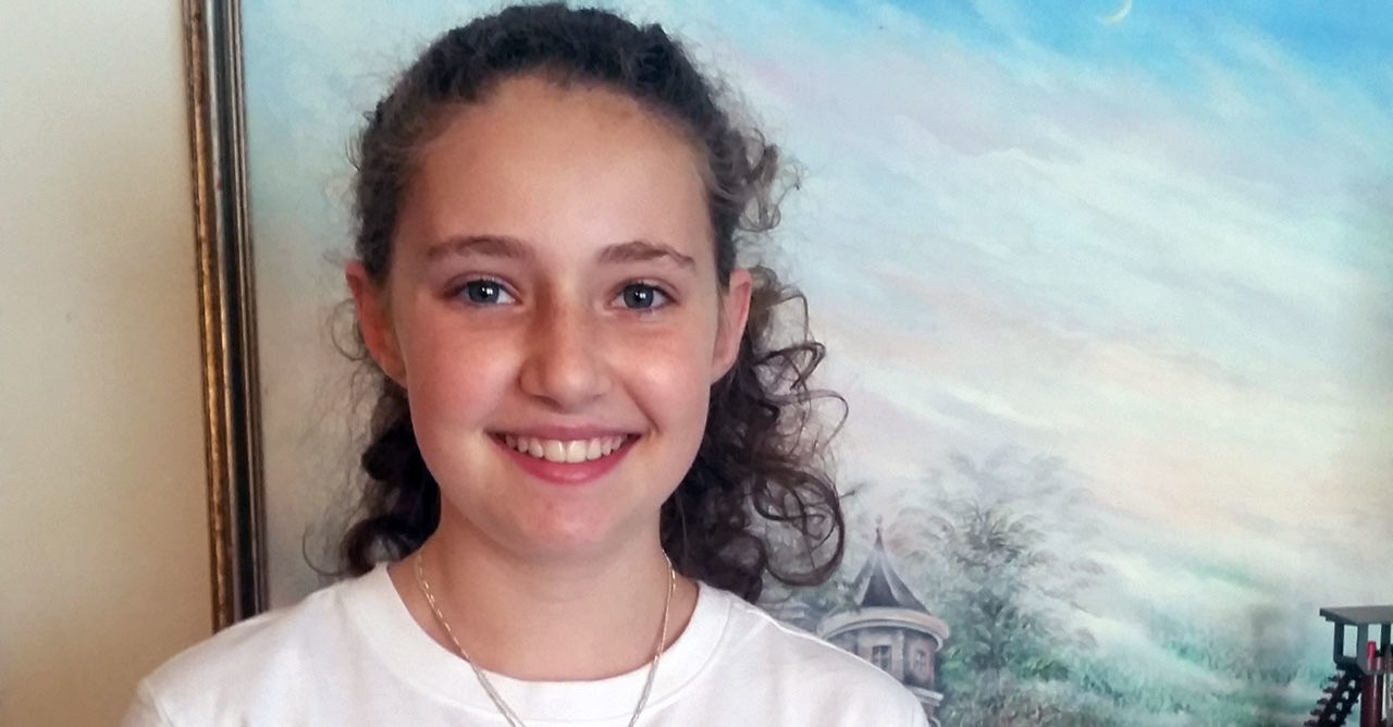 "Instead of her planned bat mitzvah Torah service, Raizel Mahgel-Friedman will have a ""Torah learning"" ceremony streamed on Zoom on April 24. (Photo/Courtesy Nell Mahgel-Friedman)"
