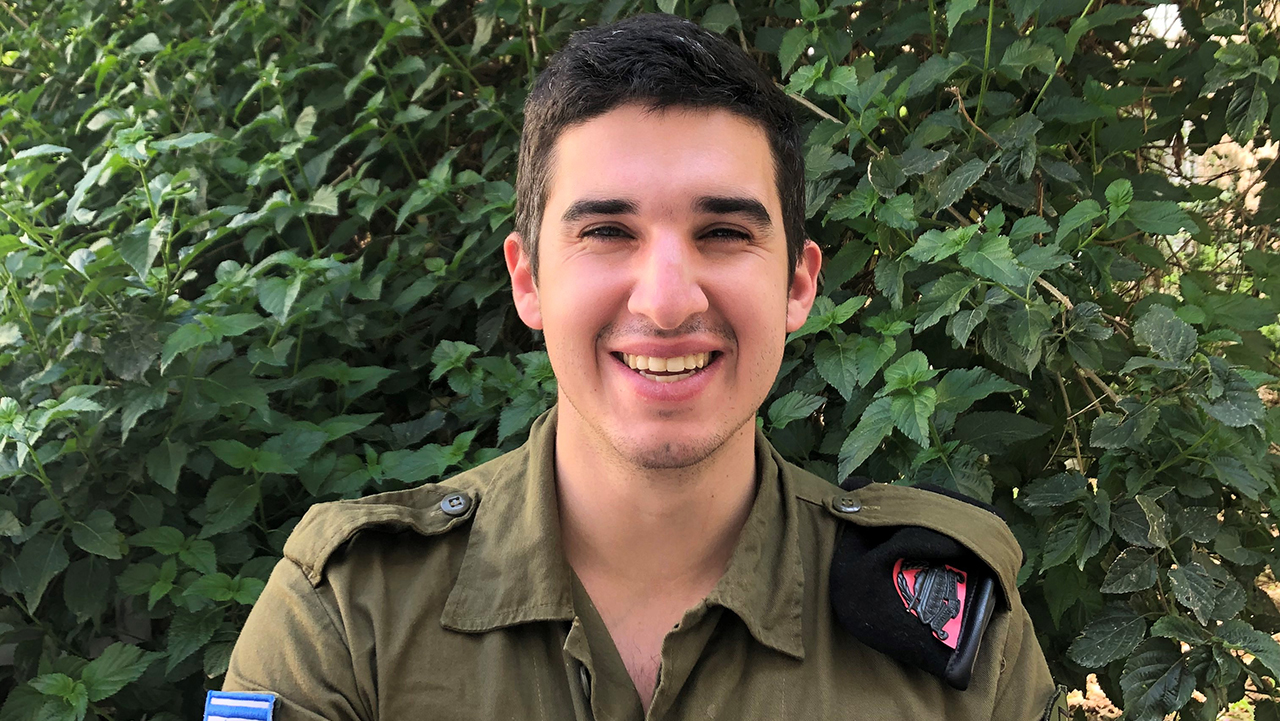 San Francisco native Cole is spending Passover on base. (COURTESY FIDF)