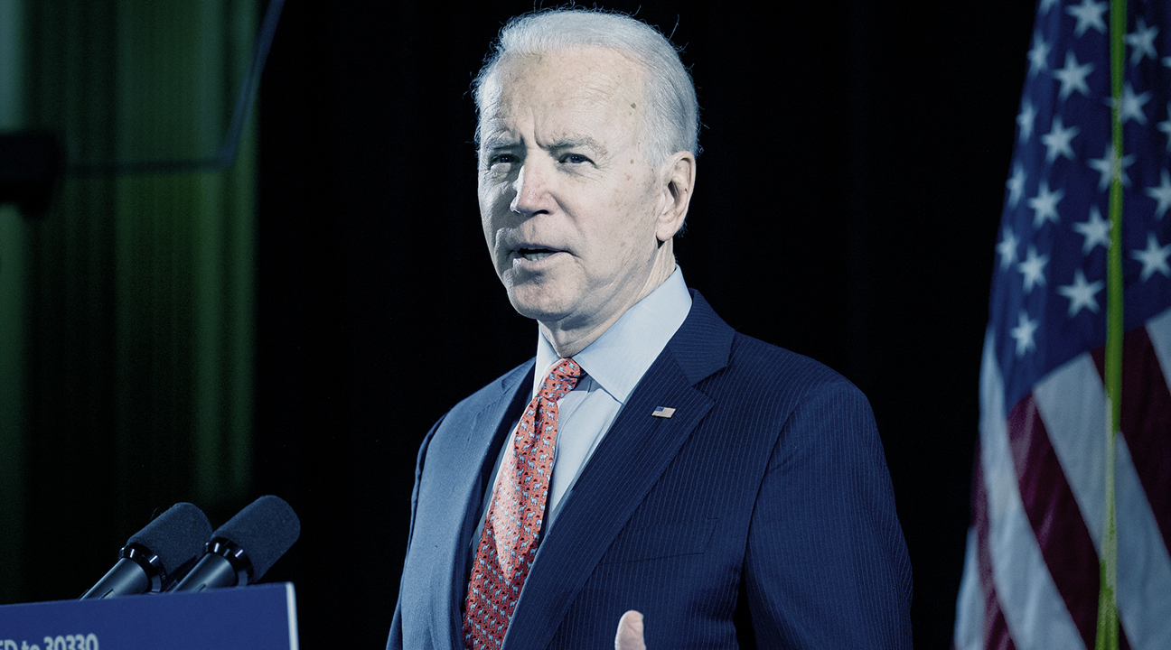 Joe Biden speaks about the coronavirus at the Hotel Du Pont in Wilmington, Delaware, March 12, 2020. (Photo/JTA-Michael Brochstein-Echoes Wire-Barcroft Media via Getty Images)
