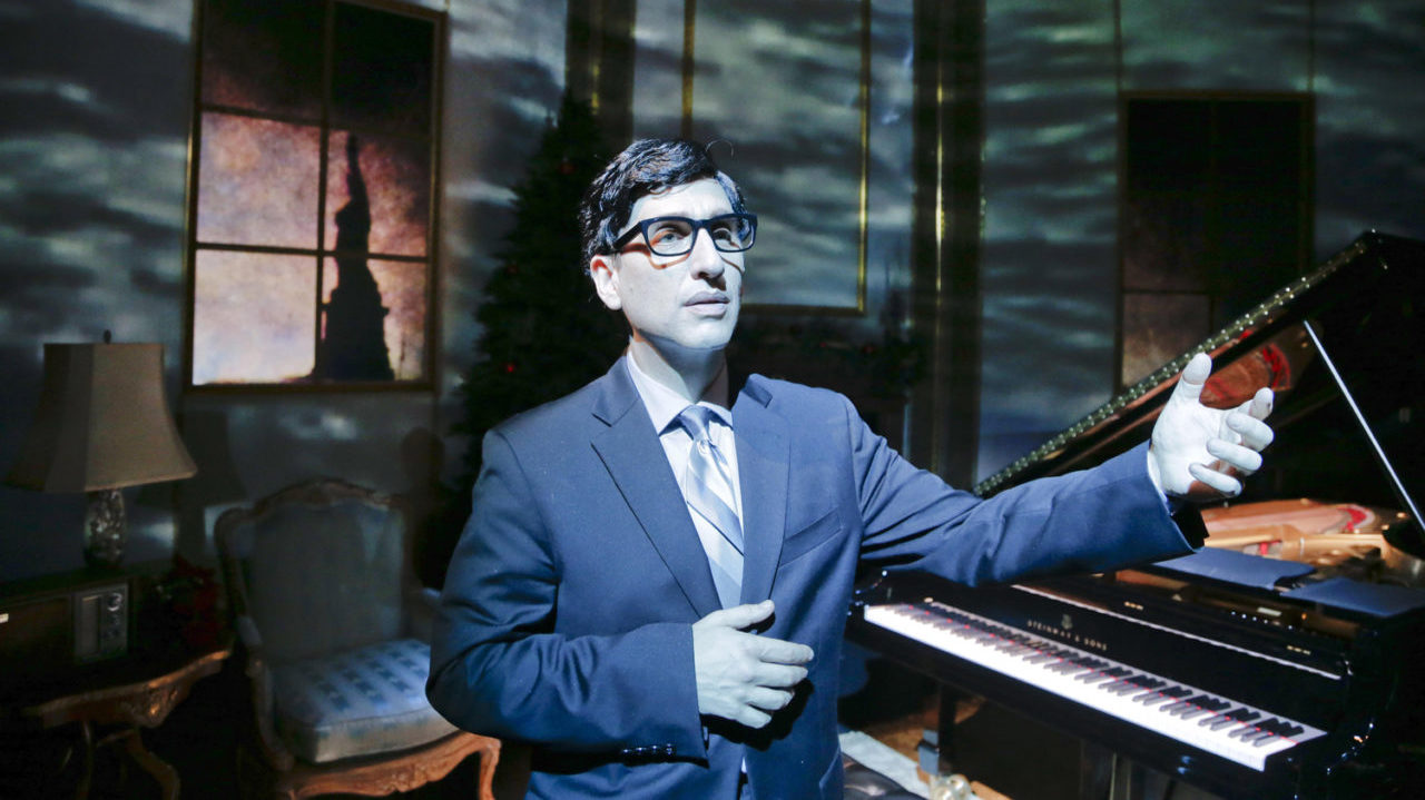 Hershey Felder performs as Irving Berlin, March 2017. (Photo/Samantha Voxakis)