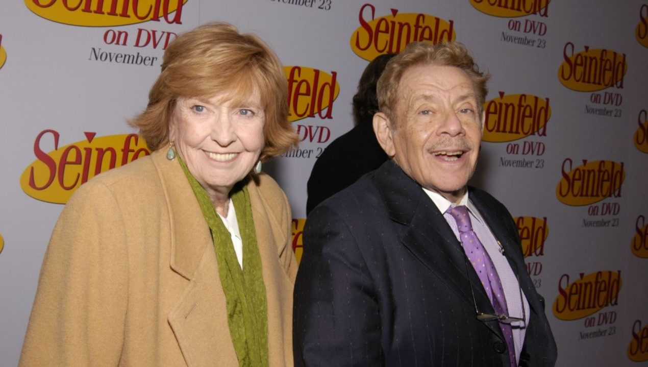 Jerry Stiller and wife Anne Meara at the Rainbow Room in Rockefeller Center in New York City, Nov. 17, 2004. (Photo/JTA-Fernando Leon-Getty Images)
