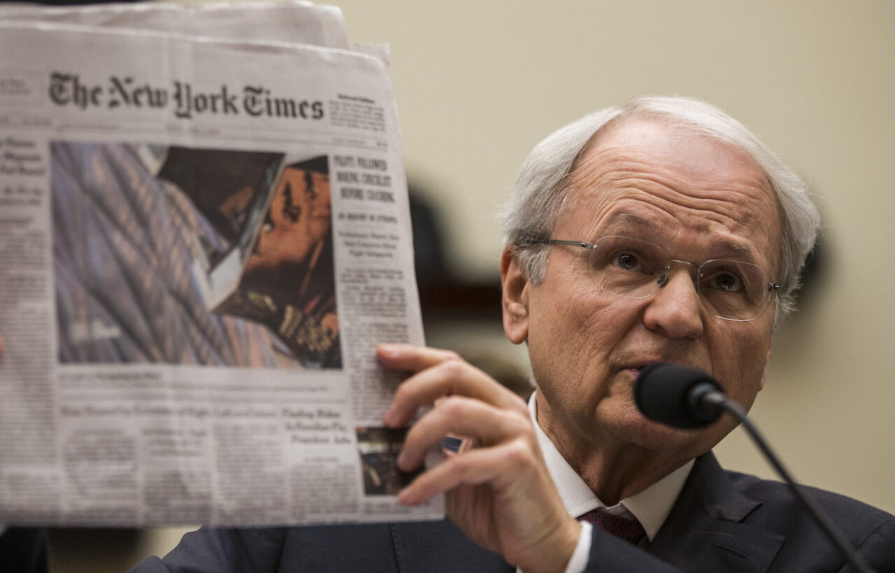 Mort Klein, president of the Zionist Organization of America, testifies before a House Judiciary Committee hearing discussing hate crimes and the rise of white nationalism, April 9, 2019. (Photo/JTA-Zach Gibson-Getty Images)