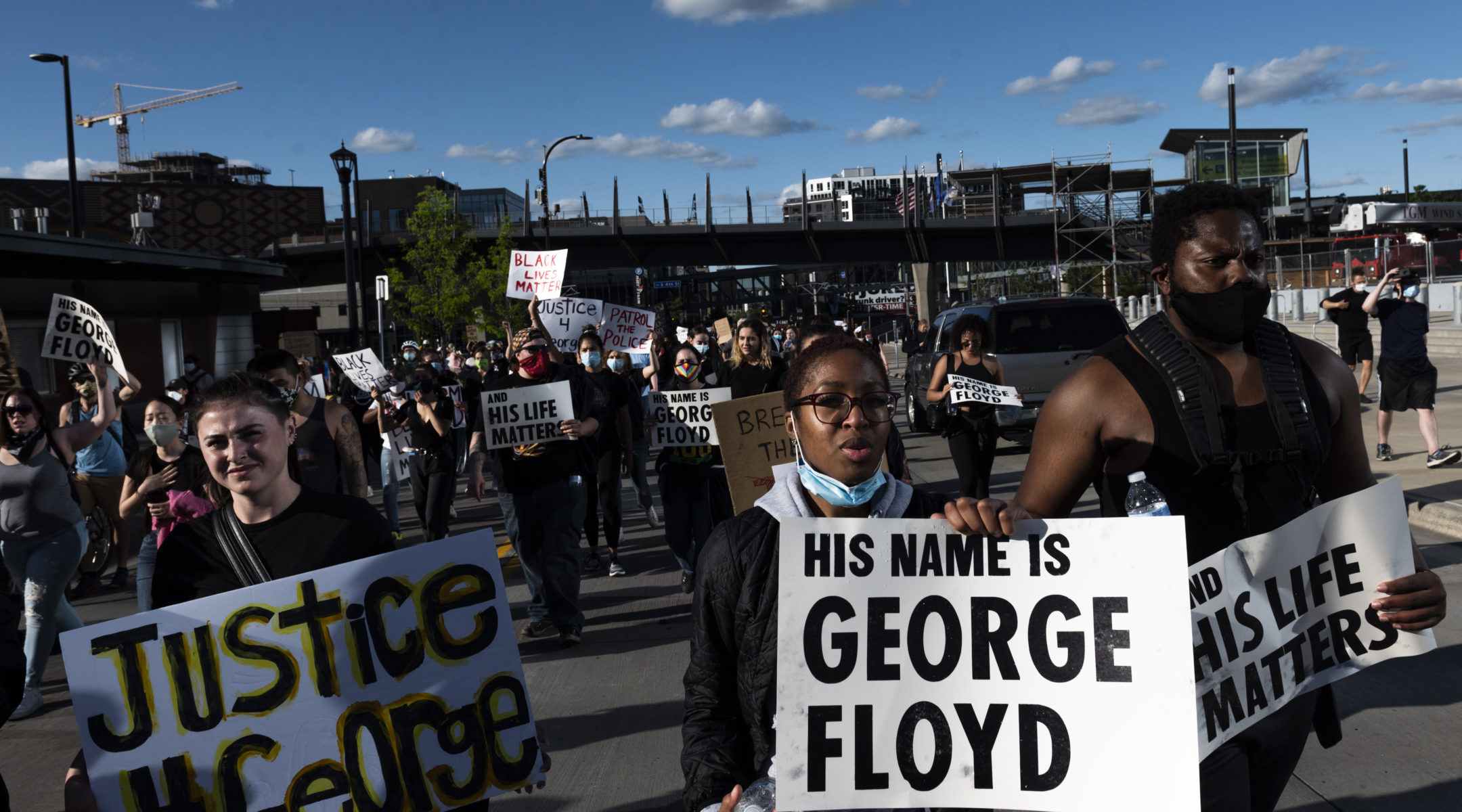 Protesters in Minneapolis, Minnesota, demonstrated against the death in police custody of George Floyd, May 29, 2020. (Photo/Stephen Maturen/Getty Images)