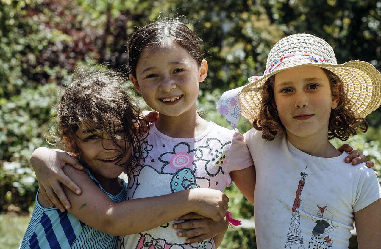 2017 Camp Kee Tov campers Jules Rabinowitz, Isabelle Keim and June Waggoner. (Photo/Courtesy Emily Schnitzer)