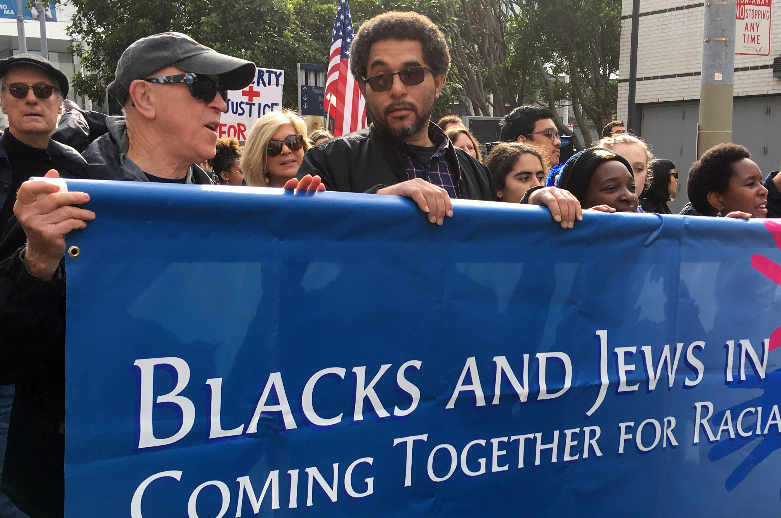 Members of the San Francisco African American-Jewish Unity Group marching on Martin Luther King Jr. Day in 2018. (Photo/Ann Rubin)