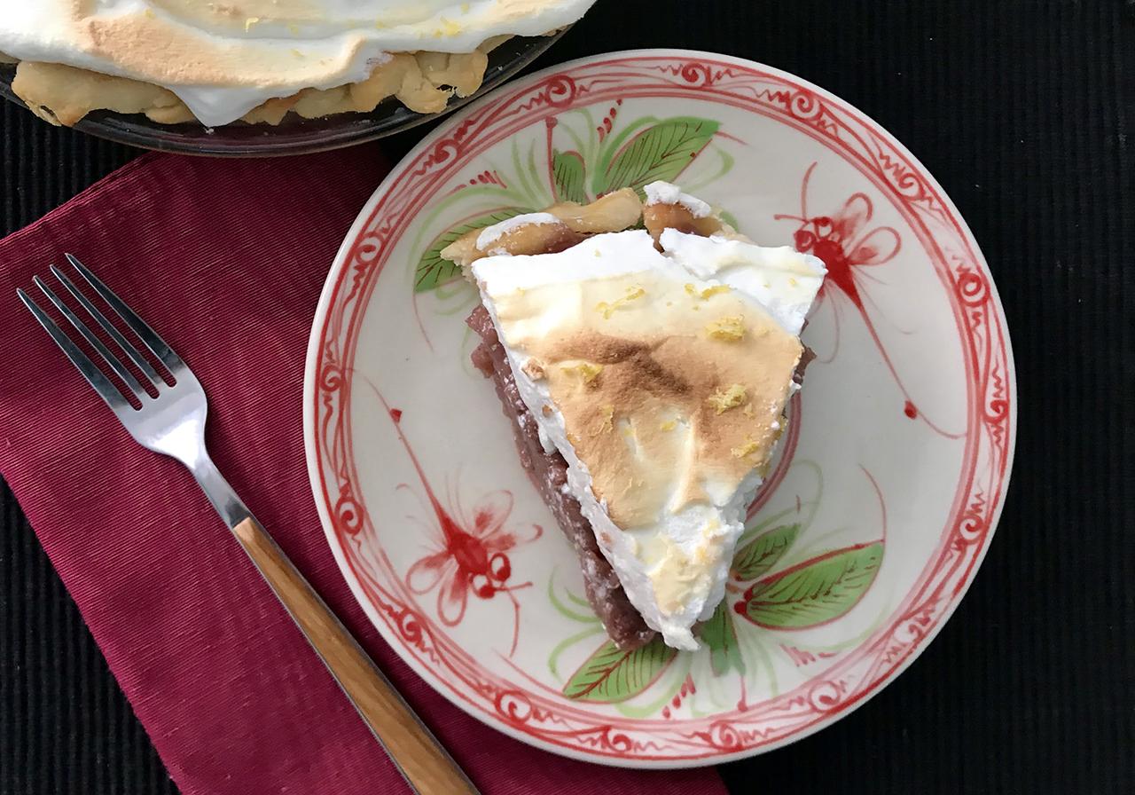 Spiced Pomegranate Meringue Pie