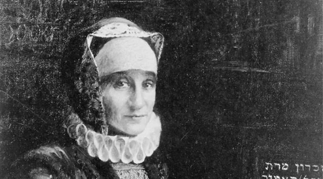 black and white painting of a woman in period clothing