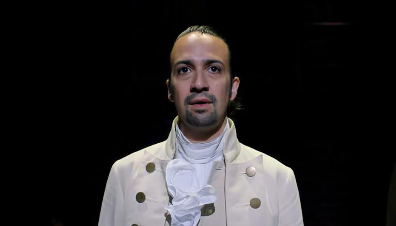 "Lin-Manuel Miranda in ""Hamilton"" (Screenshot/Disney-YouTube)"