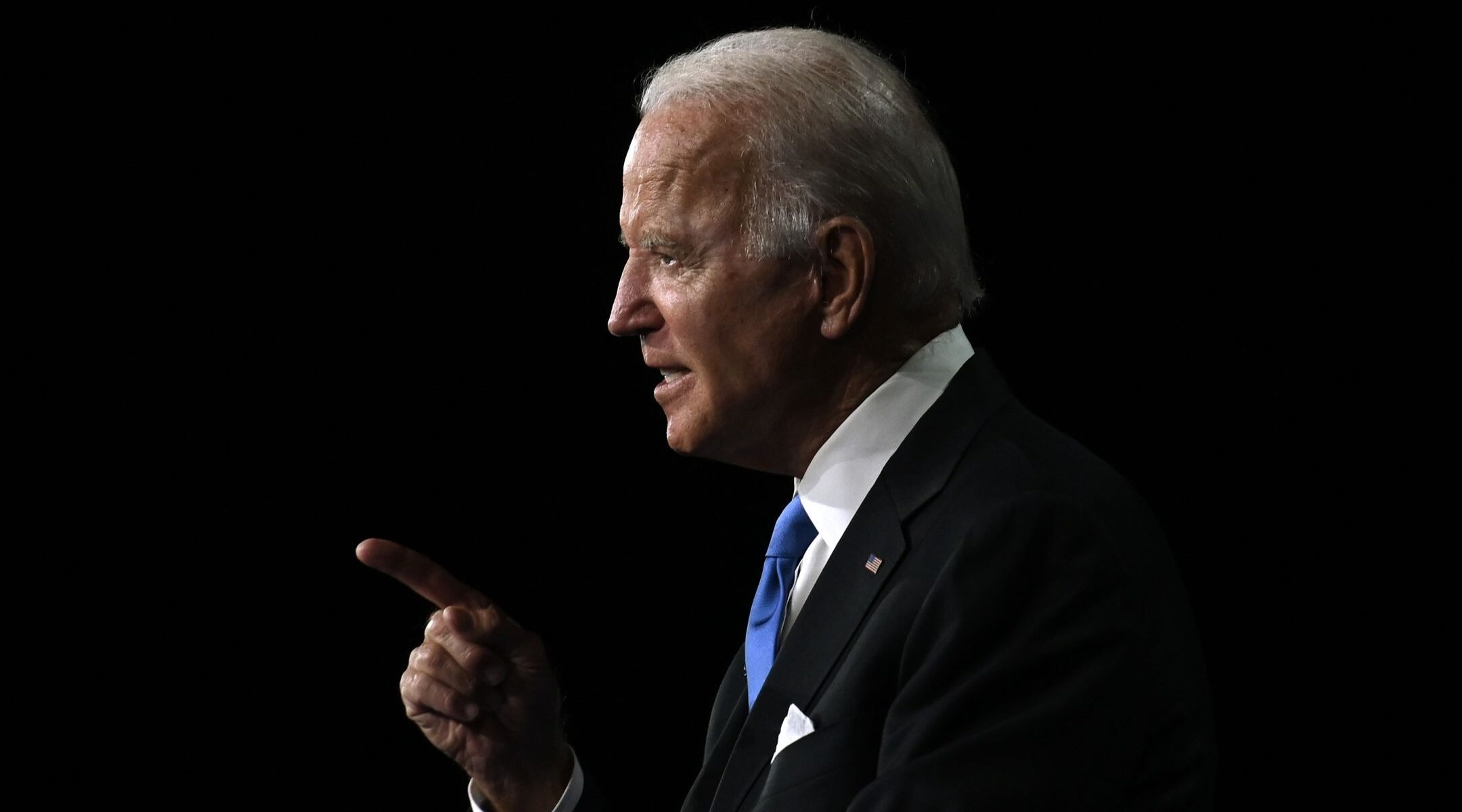 Joe Biden accepts the Democratic Party nomination for president during the last day of the Democratic National Convention, Aug. 20, 2020. (Photo/JTA-Olivier Douliery-AFP via Getty Images)