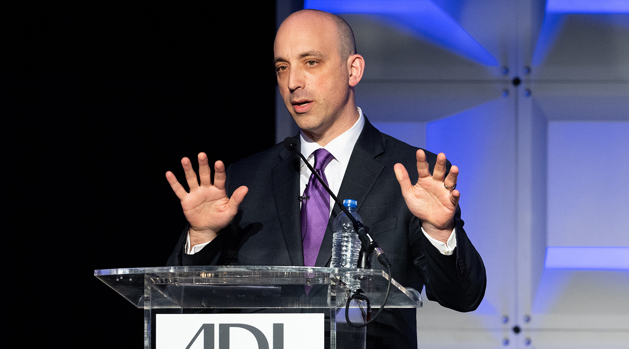 Anti-Defamation League CEO Jonathan Greenblatt speaks at the group's 2018 National Leadership Summit in Washington, D.C. (Photo/JTA-Michael Brochstein-SOPA Images-LightRocket via Getty Images)