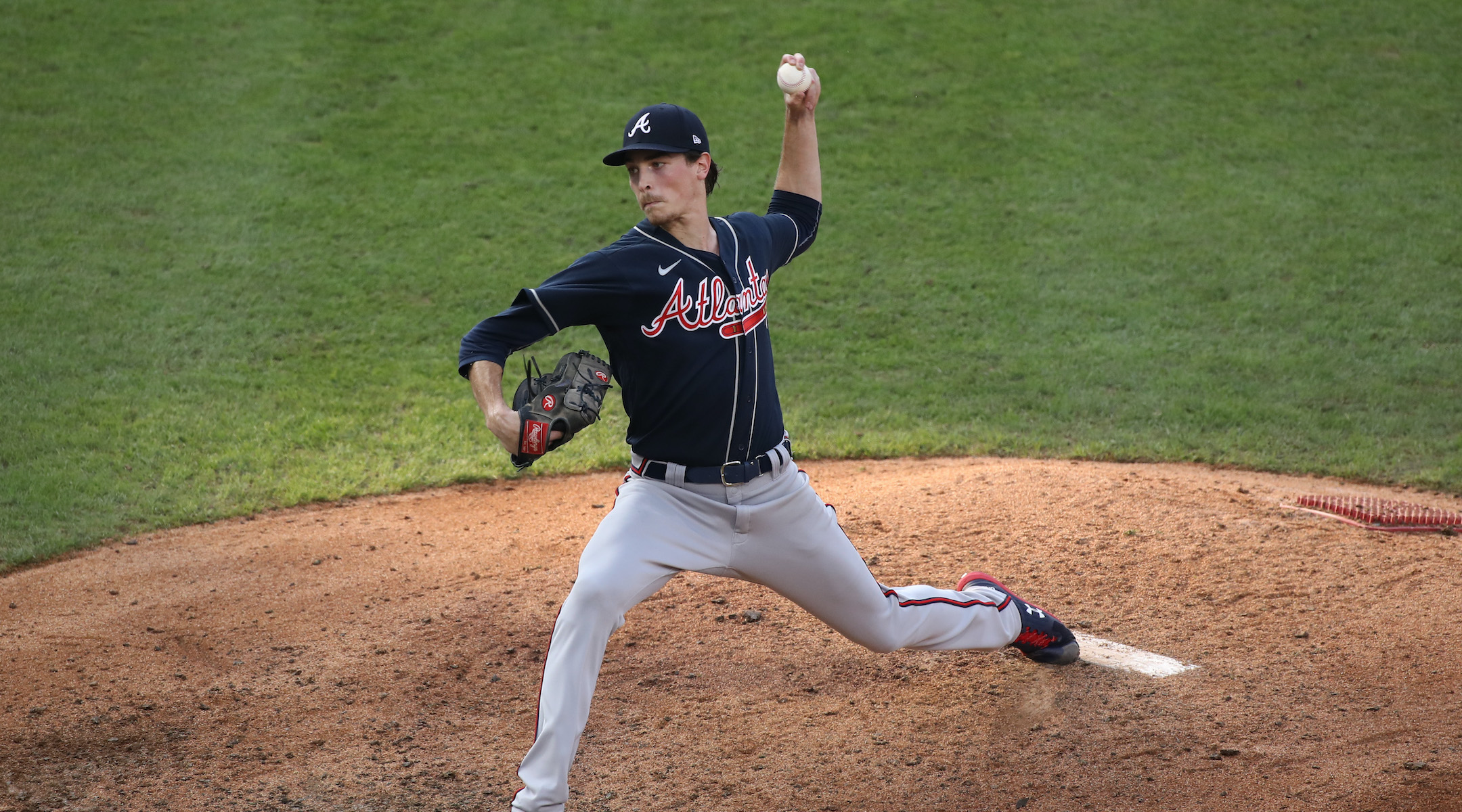 Max Fried pitches in a game for the Atlanta Braves against the Philadelphia Phillies at Citizens Bank Park in Philadelphia, Aug. 9, 2020. (Photo/JTA-Kyle Ross-Icon Sportswire via Getty Images)