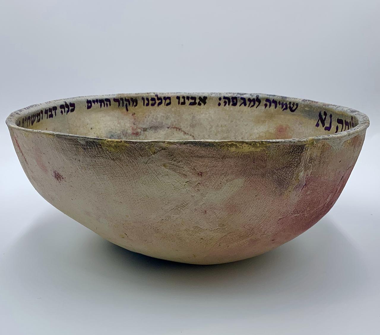 "Susan Duhan Felix's ""Blessing Bowl to End Plague."" (Photo/Robert Abrams)"