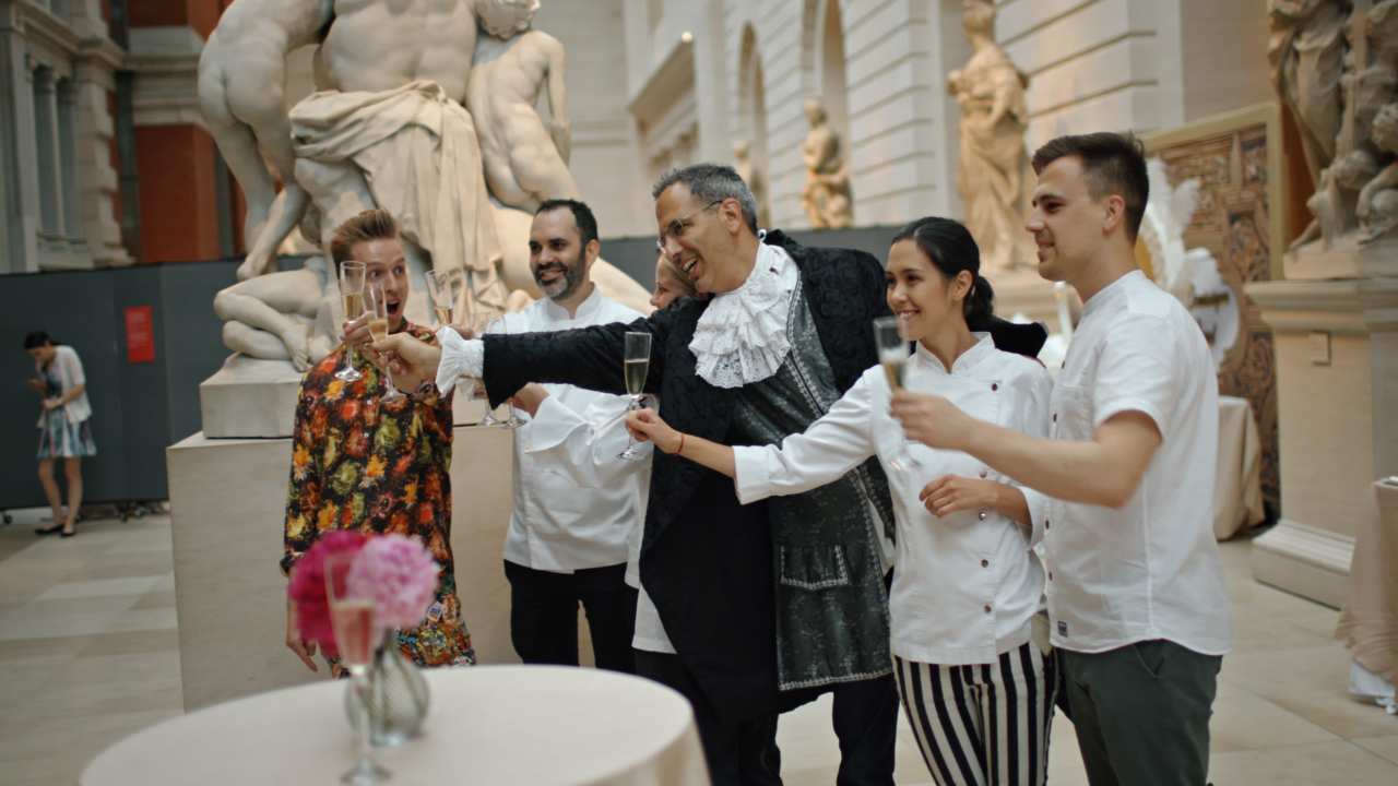 Renowned Israeli chef Yotam Ottolenghi with some of the pastry chefs at the Met gala. (Photo/IFC)