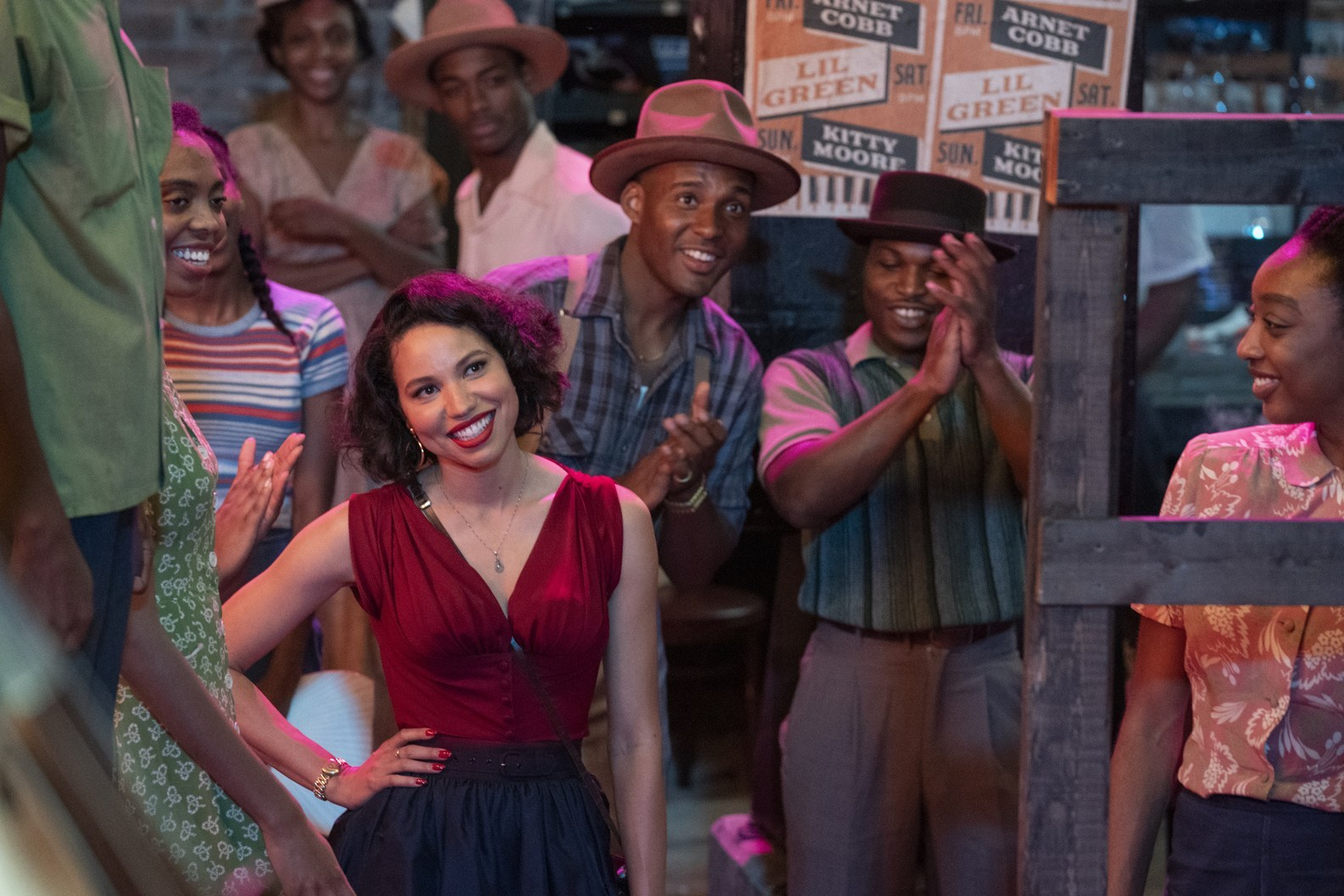 """Jurnee Smollett, seen here in """"Lovecraft Country,"""" recently spoke to Vogue about growing up with a white Jewish father and a black mother."""