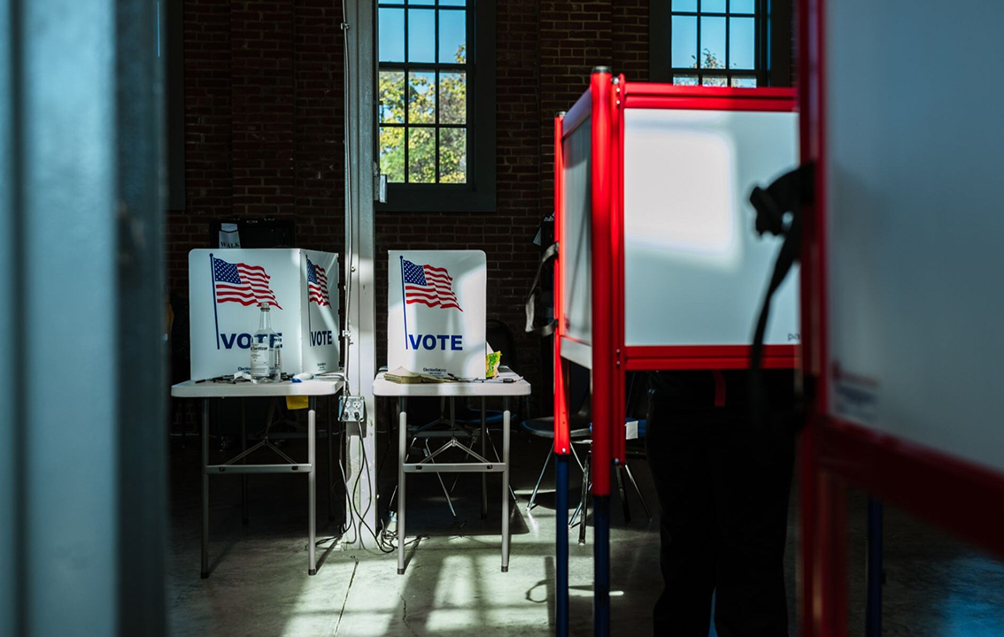 Early voting at the Kentucky Center for African American Heritage in Louisville, Oct. 13, 2020. (Photo/JTA-Jon Cherry-Getty Images)