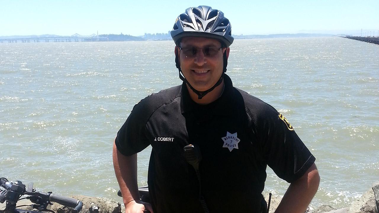 Jerome Cobert on duty at the Berkeley Marina in 1999.