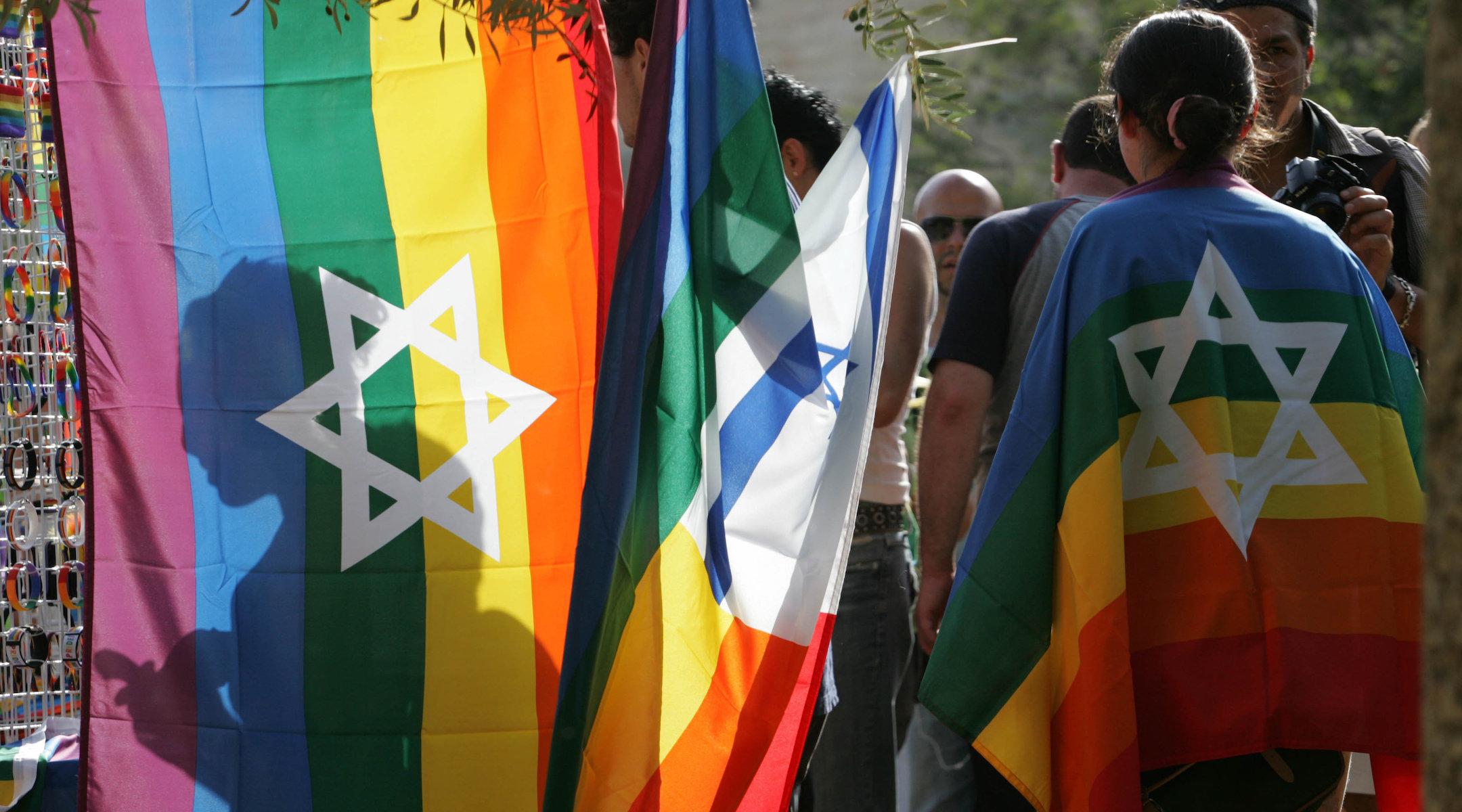 Israelis take part in the Jerusalem Pride Parade, June 25, 2009. (Photo/JTA-Nati Shohat-Flash90)