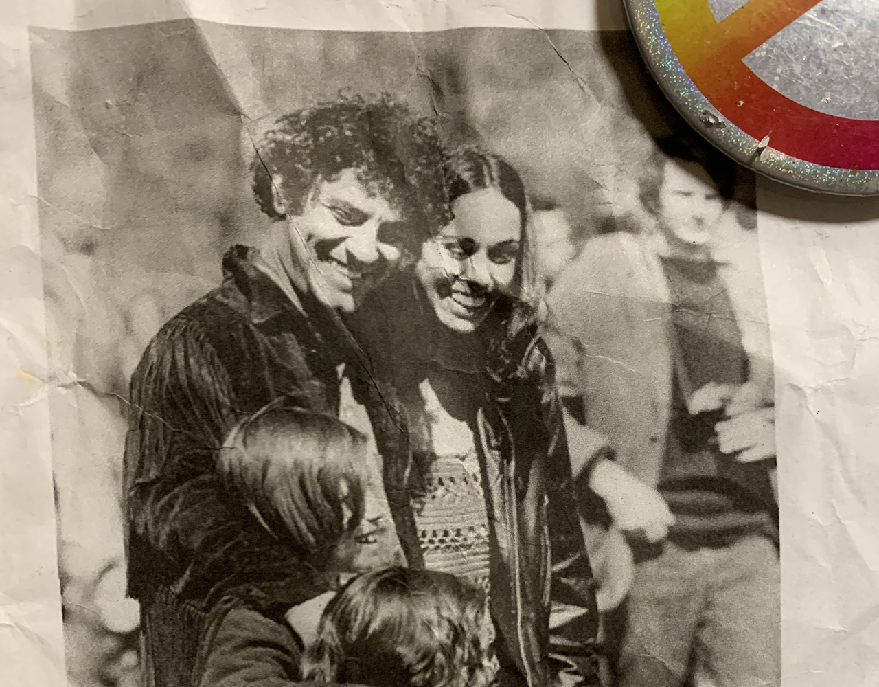 Andrew Hoffman as a child with his father, Abbie Hoffman, stepmother Anita Kushner and younger sister Amy (out of frame). (Photo/Courtesy Hoffman)