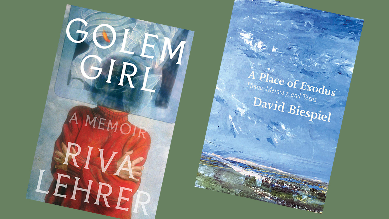 "covers of ""Golem Girl"" and ""A Place of Exodus"""